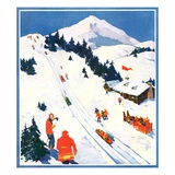 """Winter Sports Scene,""January 1, 1932 Giclee Print by Dudley Gloyne Summers"