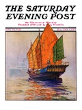 """Chinese Junk,"" Saturday Evening Post Cover, May 30, 1931 Giclee Print by Anton Otto Fischer"