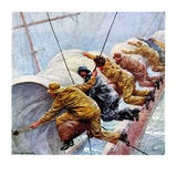 """Trim the Sails!,""March 18, 1933 Giclee Print by Anton Otto Fischer"