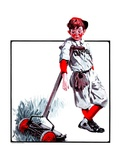 """Cut Grass or Play Baseball,""August 30, 1924 Giclee Print by Angus MacDonall"