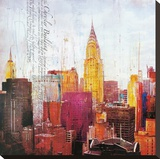 The City That Never Sleeps II Stretched Canvas Print by Markus Haub