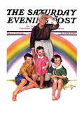 """Rainbow,"" Saturday Evening Post Cover, March 28, 1936 Giclee Print by Ellen Pyle"