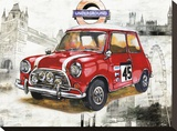 British Car Reproduction transf&#233;r&#233;e sur toile par Bresso Sola