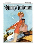 """Couple Sailing,"" Country Gentleman Cover, August 1, 1927 Giclee Print by McClelland Barclay"