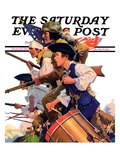 """Minutemen,"" Saturday Evening Post Cover, June 13, 1936 Giclee Print by Maurice Bower"