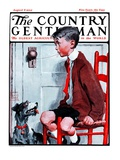"""""""Removing a Loose Tooth,"""" Country Gentleman Cover, August 8, 1925 Giclee Print by William Meade Prince"""