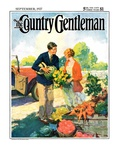 """Roadside Stand,"" Country Gentleman Cover, September 1, 1927 Giclee Print by William Meade Prince"