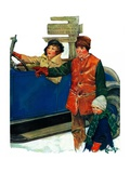 """Asking Directions,""January 9, 1932 Giclee Print by Ellen Pyle"