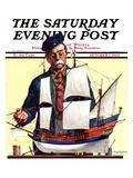 """Model Ship,"" Saturday Evening Post Cover, October 5, 1935 Giclée-tryk af Gordon Grant"