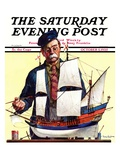 """Model Ship,"" Saturday Evening Post Cover, October 5, 1935 Giclee Print by Gordon Grant"