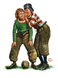 &quot;Football Huddle,&quot;November 12, 1927 Giclee Print by Alan Foster