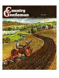 """Spring Plowing,"" Country Gentleman Cover, May 1, 1945 Giclee Print by Peter Helck"