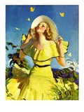 """Woman in Yellow,""June 15, 1935 Giclee Print by Andrew Loomis"