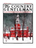 """Indenpendence Hall in Winter,"" Country Gentleman Cover, January 20, 1923 Giclee Print by James Preston"