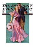 &quot;Out on a Date,&quot; Saturday Evening Post Cover, July 14, 1934 Giclee Print by John LaGatta