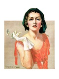 """Woman and Pince Nez,""January 16, 1932 Giclee Print by Tempest Inman"