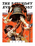 """Ringing Liberty Bell,"" Saturday Evening Post Cover, July 6, 1935 Giclee Print by Joseph Christian Leyendecker"