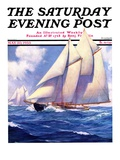 """Yachts at Sea,"" Saturday Evening Post Cover, May 20, 1933 Giclee Print by Anton Otto Fischer"