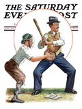 &quot;Dad at Bat,&quot; Saturday Evening Post Cover, June 1, 1929 Reproduction proc&#233;d&#233; gicl&#233;e par Alan Foster