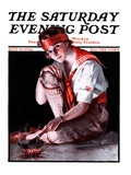 """Campfire Girl,"" Saturday Evening Post Cover, July 26, 1924 Giclee Print by Pearl L. Hill"