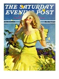 """Woman in Yellow,"" Saturday Evening Post Cover, June 15, 1935 Giclee Print by Andrew Loomis"