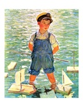 """Toy Sailboats,""June 24, 1933 Giclee Print by Eugene Iverd"