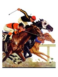 """Thoroughbred Race,""August 4, 1934 Giclee Print by Maurice Bower"