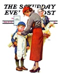 """New Woolies,"" Saturday Evening Post Cover, February 27, 1937 Giclee Print by Frances Tipton Hunter"