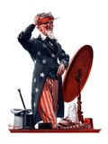 """New Hat for Uncle Sam,""May 12, 1923 Giclee Print by Elbert Mcgran Jackson"