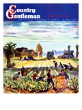 """Grape Pickers,"" Country Gentleman Cover, October 1, 1942 Giclee Print by Phil Dike"