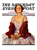 """Woman in Red Stole,"" Saturday Evening Post Cover, July 22, 1933 Giclee Print by Penrhyn Stanlaws"