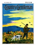 """""""Duck Hunter and Dog,"""" Country Gentleman Cover, October 1, 1929 Giclee Print by Paul Bransom"""