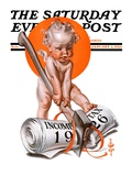 """No New Taxes,"" Saturday Evening Post Cover, January 2, 1926 Giclee Print by Joseph Christian Leyendecker"