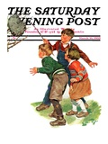 """Children and Hornets Nest,"" Saturday Evening Post Cover, March 16, 1935 Giclee Print by Ellen Pyle"