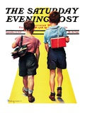 """Back to School,"" Saturday Evening Post Cover, September 11, 1937 Giclee Print by Robert C. Kauffmann"