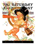 """Baby New Year Celebrates,"" Saturday Evening Post Cover, January 2, 1937 Giclee Print by J.C. Leyendecker"