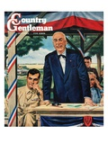 """Buy War Bonds,"" Country Gentleman Cover, July 1, 1944 Giclee Print by W.W. Calvert"