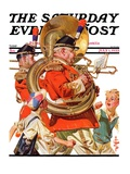 """Fourth of July Parade,"" Saturday Evening Post Cover, July 1, 1933 Giclee Print by J.C. Leyendecker"
