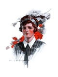 """Woman in Tie,""November 15, 1924 Giclee Print by Charles A. MacLellan"