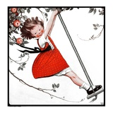 """Swinging in the Apple Tree,""August 15, 1925 Giclee Print by Sarah Stilwell Weber"