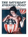 """Japanese Lantern,"" Saturday Evening Post Cover, June 28, 1924 Giclee Print by Katherine R. Wireman"