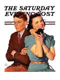 """Phone Call from Another Suitor,"" Saturday Evening Post Cover, May 27, 1939 Giclee Print by Douglas Crockwell"