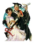 """Graduating Couple,""June 11, 1927 Giclee Print by Ellen Pyle"