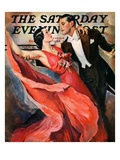 """Ballroom Dancing,"" Saturday Evening Post Cover, April 10, 1937 Giclee Print by John LaGatta"