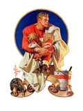 """Football Hero,""November 4, 1933 Giclee Print by Joseph Christian Leyendecker"