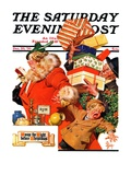 """'Night before Christmas',"" Saturday Evening Post Cover, December 26, 1936 Giclee Print by Joseph Christian Leyendecker"
