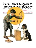 """Old Dog, New Tricks,"" Saturday Evening Post Cover, July 11, 1931 Giclee Print by Frederic Stanley"