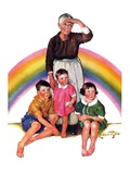"""Rainbow,""March 28, 1936 Giclee Print by Ellen Pyle"