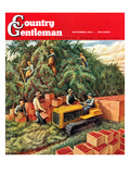 """Apple Pickers,"" Country Gentleman Cover, September 1, 1942 Giclee Print by Jackson Nesbitt"