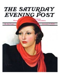 """Portrait in Black and Red,"" Saturday Evening Post Cover, January 7, 1939 Giclee Print by Neysa Mcmein"